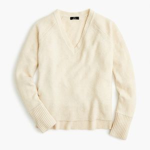 J. Crew V-Neck Sweater in Natural